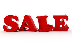 3d Sale text Royalty Free Stock Images