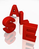 3D SALE word promotion red Royalty Free Stock Photos