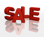 3D SALE word promotion red Stock Photos