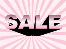 3d sale words. With reflection banner Stock Photography