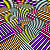 3d samenstellingskubussen in de gekleurde textuur van de nevellijn Stock Afbeeldingen