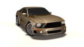 3d samochodu mustang royalty ilustracja