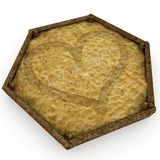 3d sandbox with valentine's day love message Royalty Free Stock Photography