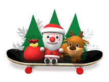 3d sanra and rudolph's happy sports Stock Images