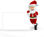 3D Santa with a banner Stock Photography