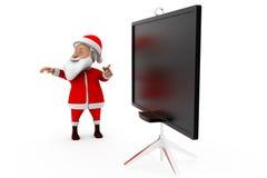 3d santa board concept Royalty Free Stock Photography