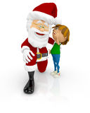 3D Santa with a boy Stock Image