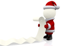 3D Santa Claus Stock Images