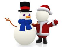 3D Santa Claus Royalty Free Stock Image