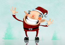 3D Santa Claus cartoon Stock Photo