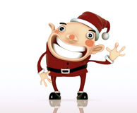 3D Santa Claus cartoon Stock Photography