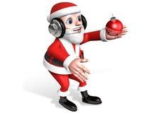 3d santa and crystal ball Stock Photography