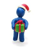 3D Santa donnant le cadeau Images libres de droits