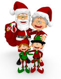3D Santa family Royalty Free Stock Photo
