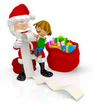 3D Santa with a kid Royalty Free Stock Images