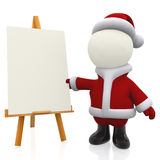 3D Santa painting Stock Images
