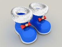 3D Santa's boot Royalty Free Stock Photo