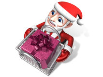 3d santa's gift shopping for christmas Stock Photo