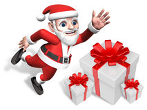 3d santa's happy gift pile Stock Photos