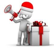 3d Santa shouting using megaphone. royalty free illustration