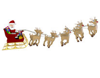 3D Santa on a sleigh Stock Photo