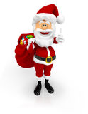 3D Santa with thumbs up Royalty Free Stock Photos