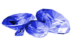 3d Sapphire Gem Isolated Stock Photo
