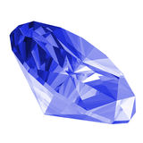 3d Sapphire Gem Isolated Royalty Free Stock Images