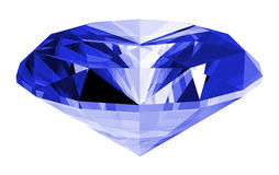 3d Sapphire Gem Isolated Stock Photography