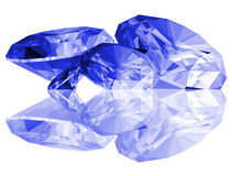 3d Sapphire Gems Isolated Royalty Free Stock Photos