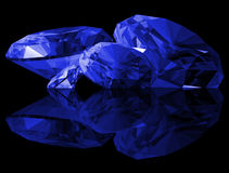 3d Sapphire Gems Isolated Stock Photo