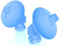 3d Satellite dish Stock Photos
