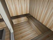 3d sauna Zdjęcie Royalty Free