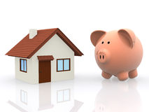 3D Saving for a house Royalty Free Stock Image