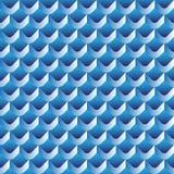 3d scallop seamless pattern. Illustration Royalty Free Stock Photo