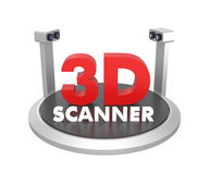 3D scanner isolated on white background. Original design with clipping path available Stock Photos