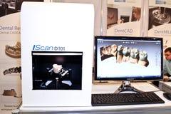 3d scanner van Noncontact en een model van tanden Royalty-vrije Stock Afbeeldingen