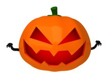 3d scary Halloween pumpkin Stock Image