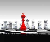 3D schaak - Stock Foto