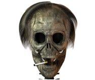 3D schedel met sigaret Royalty-vrije Stock Afbeelding