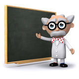 3d Scientist at the blackboard Stock Photos