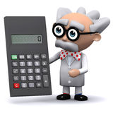 3d Scientist with calculator Royalty Free Stock Image