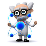 3d Scientist working with atoms Stock Photos