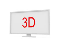 3d screen isolated on white Royalty Free Stock Image
