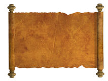 3d scroll of old parchment Royalty Free Stock Photography