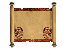 3d scroll of old parchment Stock Image