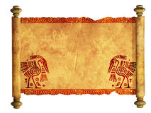 3d scroll of old parchment Royalty Free Stock Photos