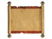 3d scroll of old parchment Stock Photos