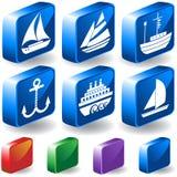 3d se boutonne nautique Photographie stock libre de droits