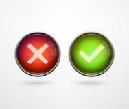 3D se boutonne oui/non Photos libres de droits